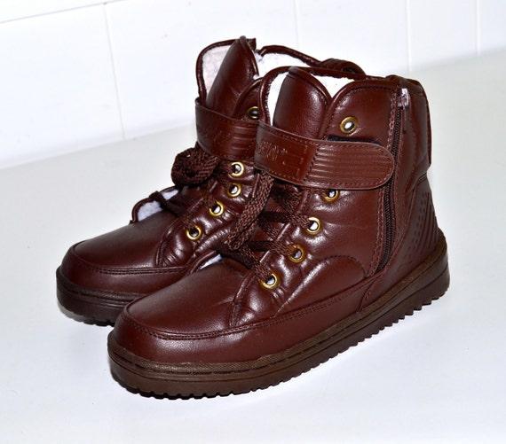 Make an Offer EURO SPORT Brown Vegan Friendly High Top Winter Snow Boots Fleece Lined Ladies sz 8