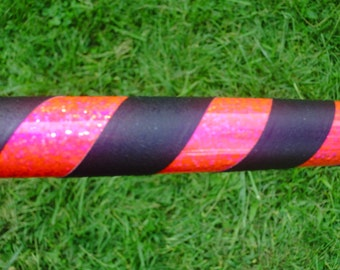 Adult Basic Hula Hoop - Hot Pink and Black