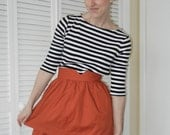 Heart Shaped Waistband Skirt - Burnt Orange
