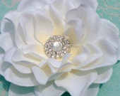 Glamourous Ivory flower-Ready to ship