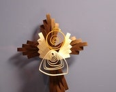 Quilled angel on a cross for scrapbooking or card making