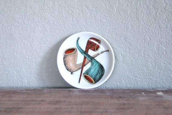 vintage set of three mini pipe plates