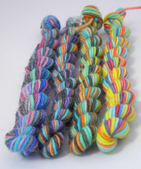 Blinded By Science Mini Skein Sock Yarn Set  - 5 skiens/18yds each - round 2