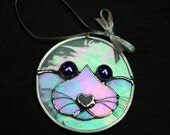 Stained Glass Baby Seal Face Ornament