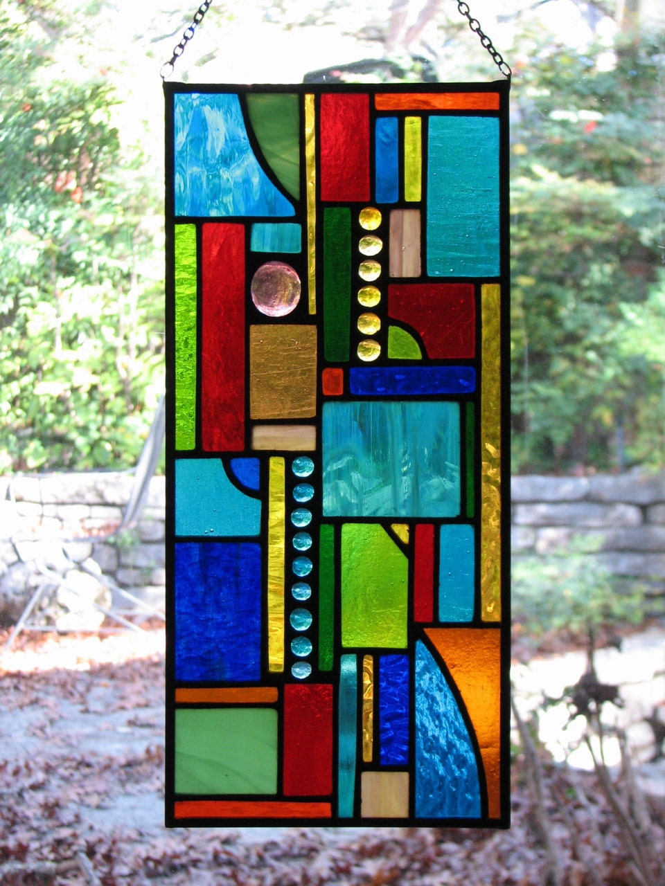 Stained Glass Abstract Geo Mini Panel
