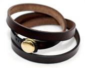 Bracelet, Jewelry, Handmade Jewelery, Leather, brown, gold, earth, Fall, Classic, Elegant, Handmade Jewelry by Kjaerogschmeling on Etsy