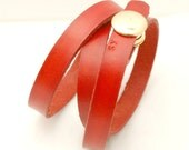 Bracelet, Handmade Jewelery, Leather, red, love, heart, Spring, Fall, Classic, Elegant, Jewelry by Kjaerogschmeling on Etsy