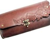 Handsewn, Blossom clutch , CUSTOM ORDER