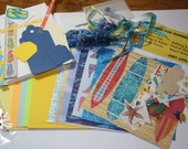 Summer / Beach paper bag album kit