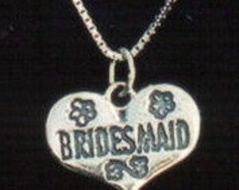 Bridesmaid Sterling Silver Pendant