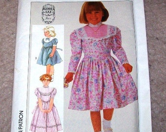 Simplicity Child's Sewing Pattern Dress size AA 9 to 6 Uncut FREE SHIPPING