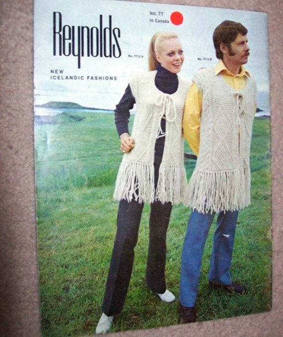Reynolds Knitting Pattern Book New Icelandic Fashions Ponchos Dresses and More FREE SHIPPING