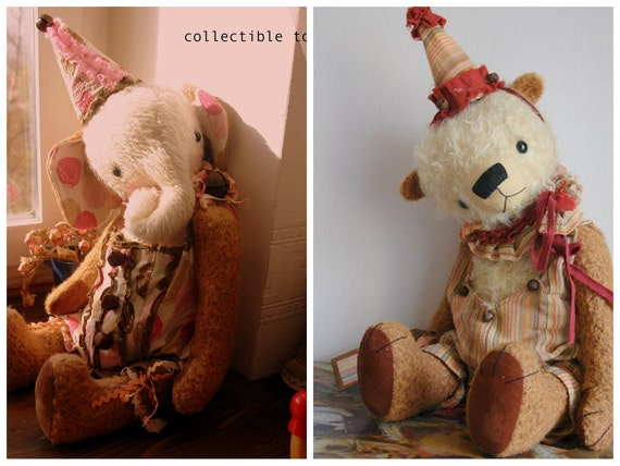 SUPER DEAL 2 PDF Epatterns for 20 inch Circus Bear and Elephant - by Sasha Pokrass plus the Patterns for Clown's Hats and Outfits