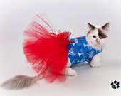 Hanukkah Tutu Harness Dog Dress - Cat Dress