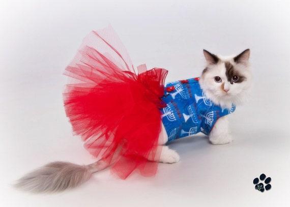 Hanukkah Tutu Harness Dog Dress - Cat Dress