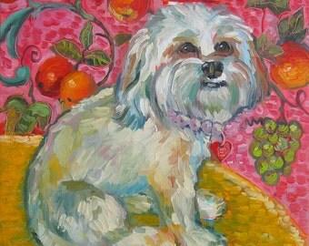 Fluffy Dogs Print by Gena Semenov - FREE SHIPPING USA