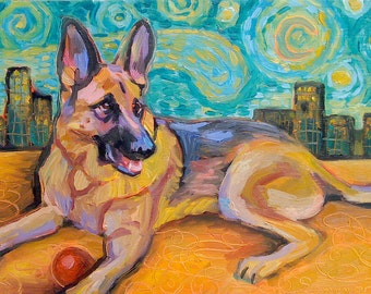 I Will Paint Your German Shepherd Dog - GSD