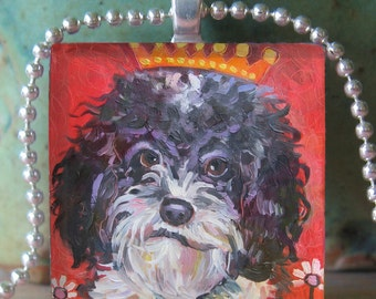 Shih Tzu Dog Pendant by Gena Semenov- FREE shipping USA