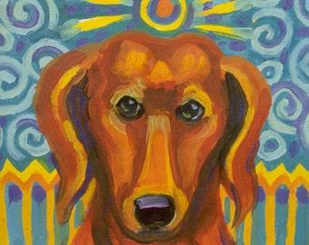 Dachshund - Hot Dog Hunter Art Print - Free Shipping USA