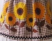 Vintage fabric Sunflower Apron