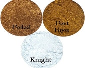 Metallic Gold and Silver Eyeshadow Trio Get the Look 3 Piece Stackable Knight Foiled and Fort Knox
