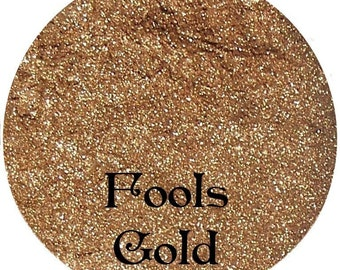 Gold Mineral Eyeshadow Pigment 3 Gram Sifter Jar FOOLS GOLD