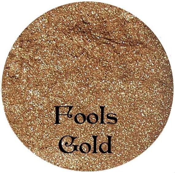Gold Mineral Eyeshadow Pigment 3 Gram Sifter Jar FOOLS GOLD
