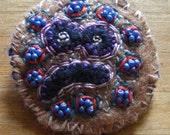 Totem Sam - hand embroidered felt brooch
