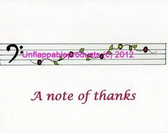 Music Note Card 5 x 7 with Matching Envelope