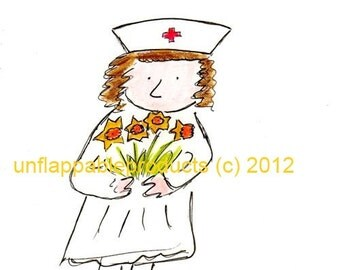 Get Well Soon Nurse Card 5 x 7 With Envelope