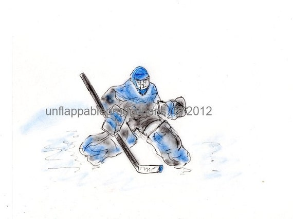Hockey Goalie 5 x 7 Greeting Card with Matching Envelope