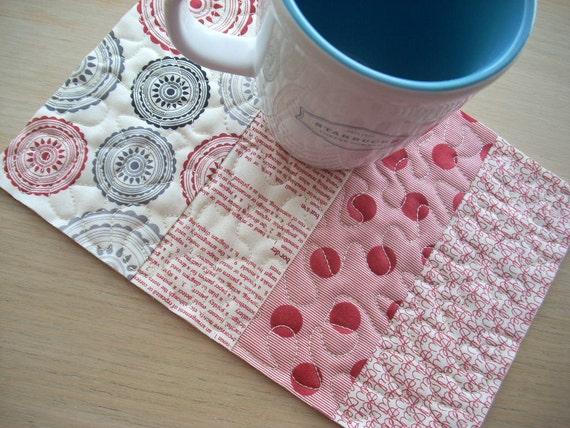 mama said sew mug rug - FREE SHIPPING