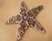 Beaded Sandy Starfish Brooch