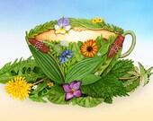 Herbal Tea Cup Print