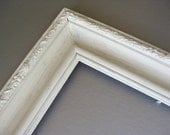 Vintage Wood Frame, Ornate Frame, Ivory Frame, Shabby and Chic, Cottage Chic, Wall Decor, French Country, Rustic