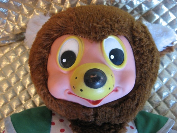 Rubber Mask Face Vintage Teddy Bear Germany