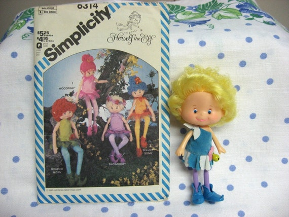 Herself the Elf Doll  and Simplicity pattern 6314 American Greetings / Mattel 1984