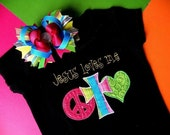 Jesus Loves Me Boutique Applique Shirt or Onesie and Hair Bow Set for Girls