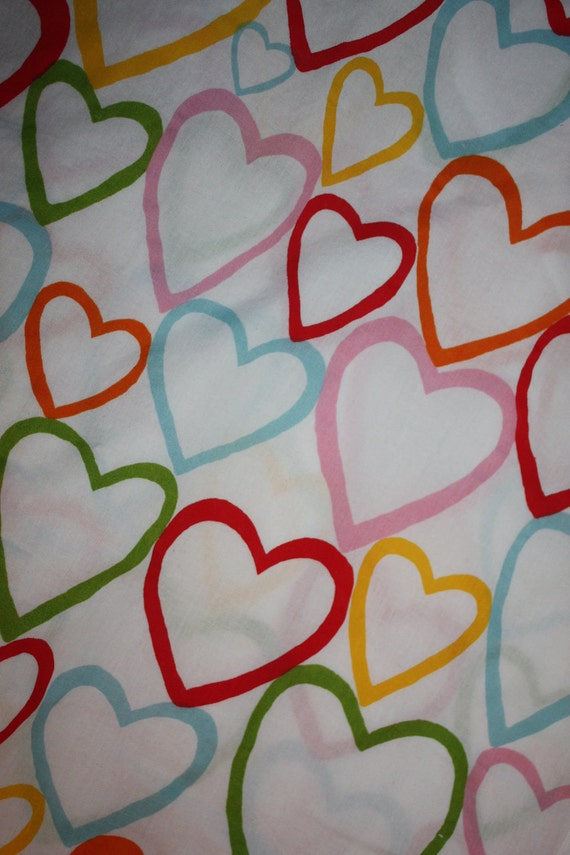 Heart Fitted Crib Sheet- IKEA Vitaminer fabric