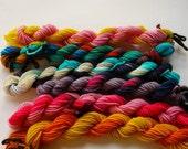SALE Pony Skeins--Mane 6 handpainted superwash merino fingering weight sock yarn