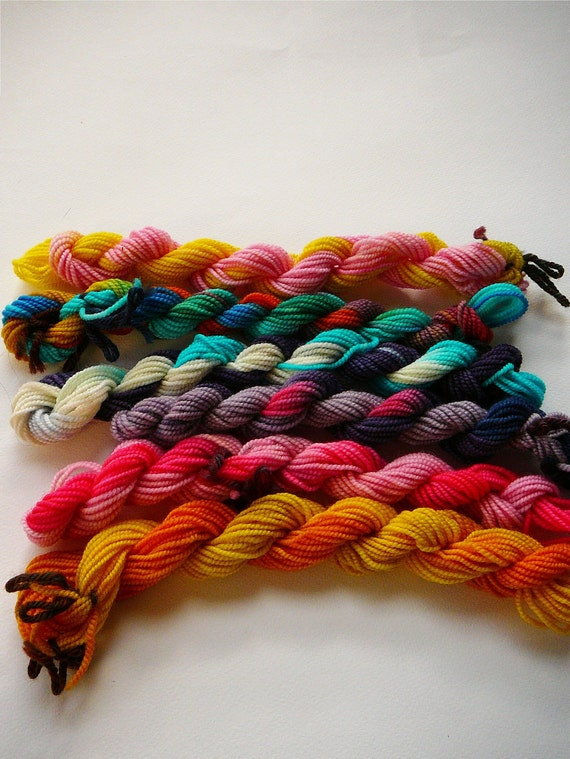 Pony Skeins--Mane 6 handpainted superwash merino fingering weight sock yarn