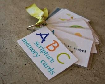 ABC Scripture Memory card set