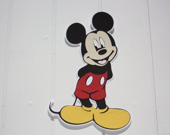 "Mickey Mouse 4"" die cut"