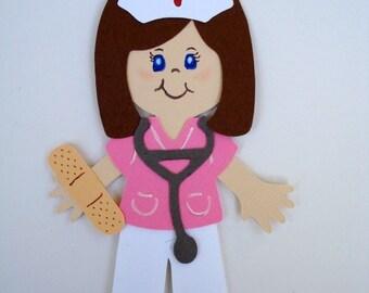 Nurse diecut paper doll