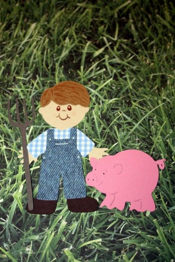 Farmer boy paper doll die cut