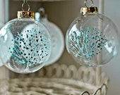 Up-cycled Glass Ornament - Blossoming Tree