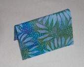 Fabric Card Case/Mini Wallet/Sunflower Batik