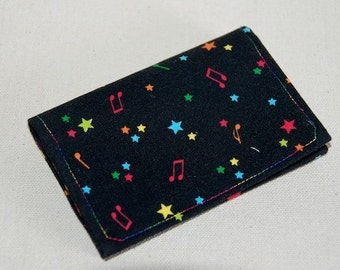 Music Fabric Card Case/Mini Wallet