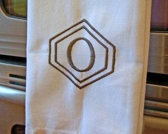 Monogrammed Kitchen Towels - You choose the font, monogram color and design