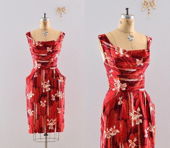 r e s e r v e d....... 1950s Alfred Shaheen  / 50s sun dress / 1950s day dress